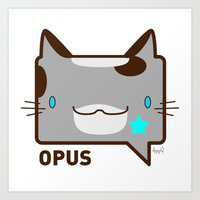 Convo Cats! Opus Art Print