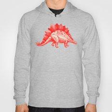 Red Stegosaurus  Hoody