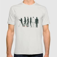 people Mens Fitted Tee Silver SMALL
