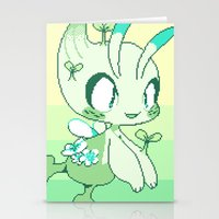 Pixel Celebi Stationery Cards