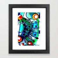 Abstract Explotion Framed Art Print