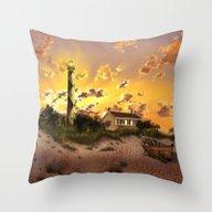 Lighthouse Landscape Sky Throw Pillow
