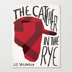 Catcher in The Rye by J.D Salinger Book Cover Re-Design Canvas Print