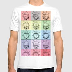 Pixel Geek Mens Fitted Tee White SMALL