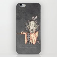 Long live the dead - Raccoon iPhone & iPod Skin