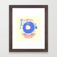 Mischievous donut Framed Art Print