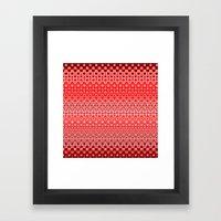 Mosaic Red Framed Art Print
