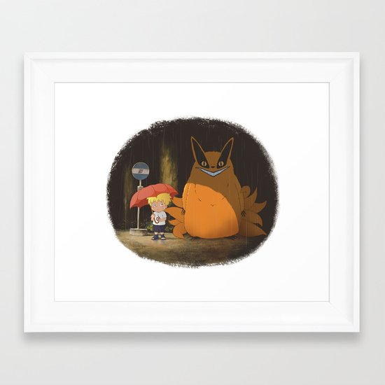 My Neighbor Kurama Framed Art Print