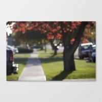 Down Bokeh Lane Canvas Print
