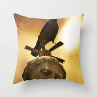 The Watcher of  Charles Bridge Throw Pillow