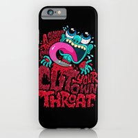 iPhone Cases featuring A Sharp Tongue Can Cut Your Own Throat by Chris Piascik