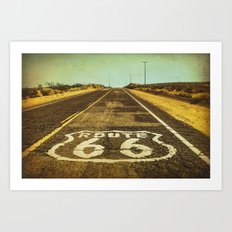 Route 66 Road Marker Art Print