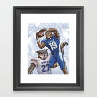 Wildcats Versus Owls Framed Art Print