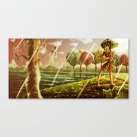 Girl with the Umbrella Canvas Print