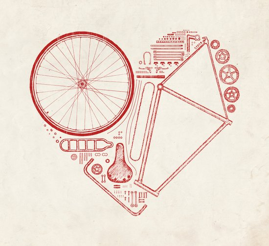 Love Bike Canvas Print