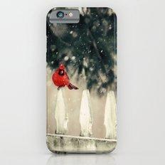 Snowy Day Cardinal Slim Case iPhone 6s