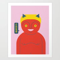 Happy Demon Art Print