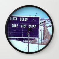 Dirty Deeds Wall Clock