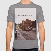 perks of being a wallflower - happy + sad Mens Fitted Tee Tri-Grey SMALL