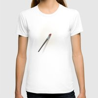 Blank Canvas - Painting Womens Fitted Tee White SMALL