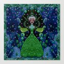 Lady Rabbit  Fantasy happy for her new dress Canvas Print