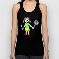 Tennis Girl Unisex Tank Top