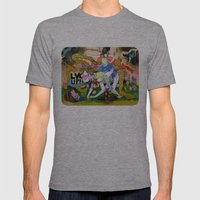 Lvl Up Mens Fitted Tee Athletic Grey SMALL