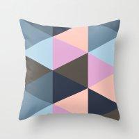 Triangle Meltdown Throw Pillow