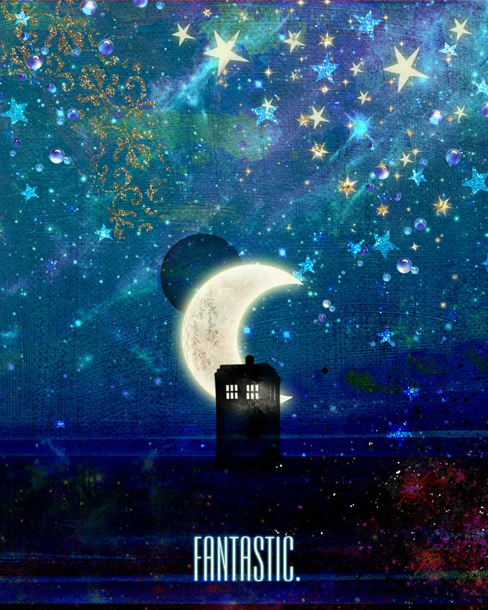 Tardis Wallpaper Iphone: Doctor Who - Fantastic Art Print By Heather Spriggs