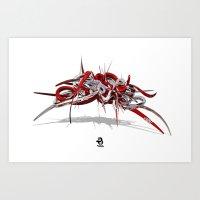 3d Graffiti - STYLE Art Print