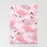 Flamingo Pattern Stationery Cards