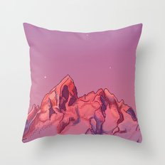 Ruby Sunrise Throw Pillow