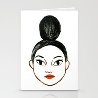 Top Knots Stationery Cards