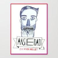 Ansiedad (Anxiety) Canvas Print