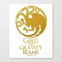 Gold and Gravity Beams Canvas Print