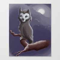 Skull Owl  Canvas Print