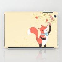 Fox Apple Picking iPad Case
