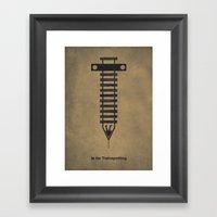 T Is For Trainspotting Framed Art Print