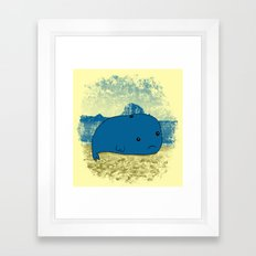 Why such a lonely beach? Framed Art Print