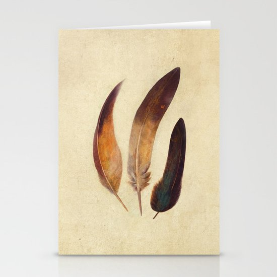Three Feathers  Stationery Card