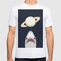 The Universe Is A Shark's Playground Mens Fitted Tee Ash Grey SMALL