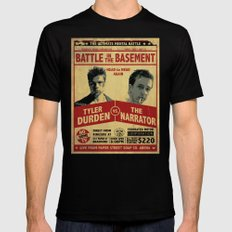 Fight Club Fight Poster Black Mens Fitted Tee SMALL