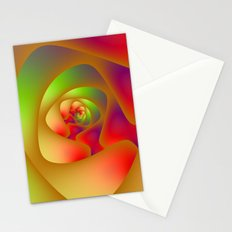 Green and Red Spiral Labyrinth Stationery Cards