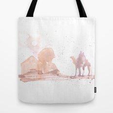 Watercolor landscape illustration_Egypt Tote Bag