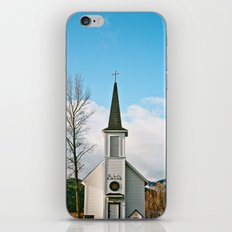 Country Church in the Mountians iPhone & iPod Skin