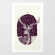 Art Print featuring Deer by BernardoMajer