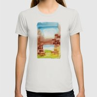 Ventanas Womens Fitted Tee Silver SMALL