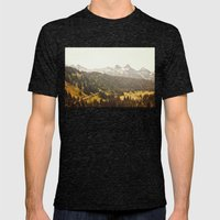 Road through the Mountains Mens Fitted Tee Tri-Black SMALL