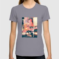 NY Lights Womens Fitted Tee Slate SMALL