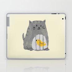 A cat that swallows a bird Laptop & iPad Skin